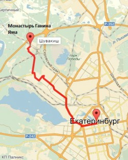 Карта тура